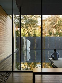 Windhover Contemplative Center - Aidlin Darling Design, 2014 (Stanford, E. Meditation Center, Meditation Space, Minimalist Architecture, Space Architecture, Patio Interior, Interior And Exterior, Wood Interiors, Pool Designs, Water Features