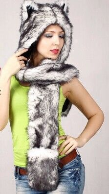 Free shipping Ear hat Husky animal hat Autumn and winter cap Men and women