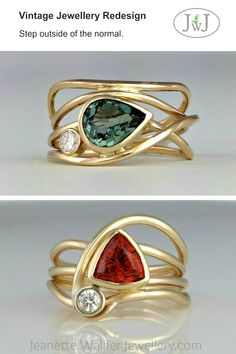If it cant be reduced reused repaired rebuilt refurbished refinished resold recycled or composted then it should be restricted redesigned or removed from production. -Pete Seeger Our Horizon Rings are a Vintage Jewellery Redsign. Sea Glass Jewelry, Fine Jewelry, Prom Jewelry, Geek Jewelry, Jewelry Stand, Infinity Ring, Infinity Jewelry, Antique Jewelry, Vintage Jewelry