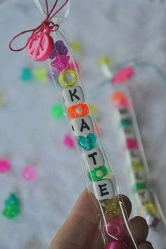 Instead of lolly bags, send kids home with beads and string to make their own bracelets