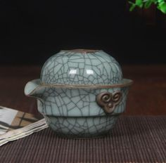 China longquan celadon travel ceramic tea set a pot of a tea cup