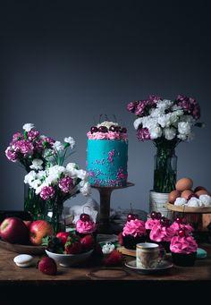 White Chocolate & Cherry Luxury Layer Cake