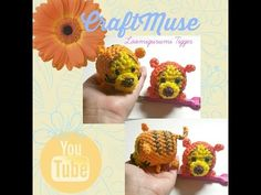 Good Day everyone :) Today's tutorial is for the adorable Tigger inspired by Tsum Tsum, you can now make him to go with your Pooh and Eeyore. Rainbow Loom Patterns, Rainbow Loom Creations, Rainbow Loom Charms, Rainbow Loom Bracelets, Rubber Band Crafts, Rubber Bands, Monster Tail Loom, Crazy Loom, Rainbow Band