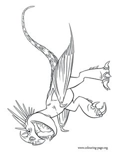 how to train your dragon 2 stormfly the astrid dragon coloring page