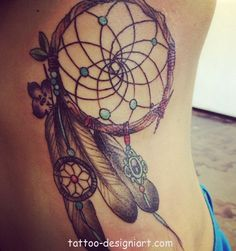 tattoo dreamcatcher idea tattoos art design style girls picture image http://www.tattoo-designiart.com/tattoos-designs-for-girls/dream-catcher-tattoo-design-17/
