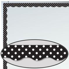 Black Polka Dots Magnetic Border Trim