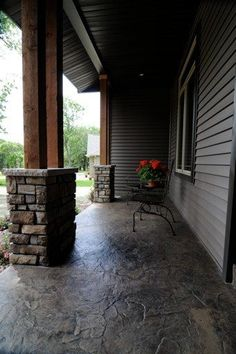 Stamped concrete - I like the more natural look of this style