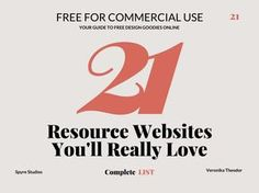 The ultimate list of design resource websites which offer free for commercial use UI elements, textures, mockups, fonts and many more.