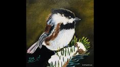 Snowy Chickadee Step by Step Oil Demonstration Step By Step Painting, Painting Videos, Creative Art, Oil