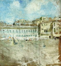 The Athenaeum - Venice (Campo) (Charles Webster Hawthorne - )