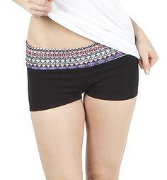 """GIRLS AZTEC 2"""" YOGA SHORTS $6 Blnts.com"""