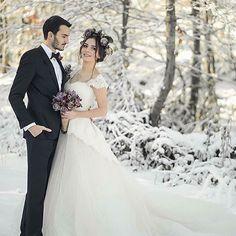 "Gorgeous #wintertimewedding ... LOVE brides in the snow!!!  ________________________________________ ""I hope everyone's feeling as festive as we! credit: @bekirsozakphotographr #bridebook #bridebookphotographers #winterwedding #christmaswedding #weddingphoto #weddinginspo"" by @bridebookhq by thedestinationweddingsite"