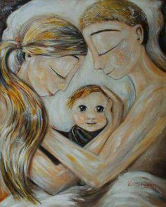 mother and child art - moments of motherhood captured in paint on canvas. Original art for sale, featuring mother and son, mother and daughter, family portraits and emotion. Art And Illustration, Baby Gifts For Dad, Pregnancy Art, Mother Art, Family Painting, Baby Art, Baby Prints, Canvas Art Prints, Art Drawings