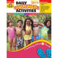 Prevent summer brain drain. Daily Summer Activities to help ease the transition between grades. $12.99