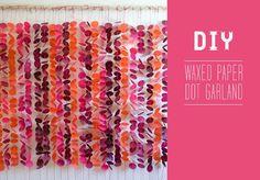 DIY Wax Paper Dot Garland