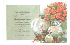 Ivory and Apricot Fall Pumpkin Party Invitation from Odd Balls