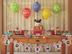Party / Dessert Table Ideas Mickey Mouse