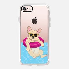 Casetify iPhone 7 Case and Other iPhone Covers - Swimming Frenchie (Fawn) by Megan Roy | #Casetify