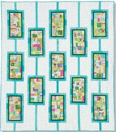 This Baker's Dozen lap quilt pattern owes much of its modern appeal to its randomly-pieced block centers. Our instructions have you cut and piece all block