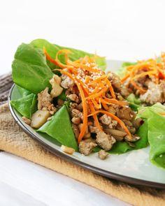 lettuce wraps cashew chicken1