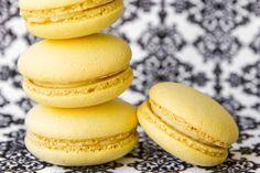 Limoncello Macarons - Macarons with a light Limoncello and ricotta cream filling.