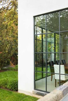 Exterior Dining Room Detail Contemporary Rear Facade by Anne Decker Architects Windows and doors - possibility Stockwood