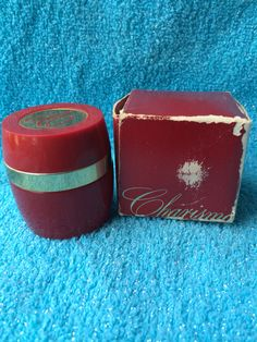 Vintage Avon Charisma Perfume with box Red Glass Bottle Decanter