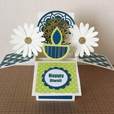Handmade Diwali Box Card Greeting Card Diwali Greeting Cards