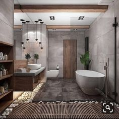 """Browse photos of Small Bathroom Tile Design. Find suggestions and inspiration for Small Bathroom Tile Design to enhance your house. Interior Design Minimalist, Contemporary Interior Design, Bathroom Interior Design, Zen Bathroom Design, Nature Bathroom, Bathroom Colors, Zen Bathroom Decor, Interior Modern, Spa Inspired Bathroom"