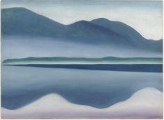 Lake George (formerly Seascape Reflection) - Georgia O'Keeffe - WikiPaintings.org