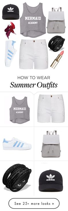 """Casual Summer"" by xidecx on Polyvore featuring City Chic, adidas, adidas Originals and plus size clothing"