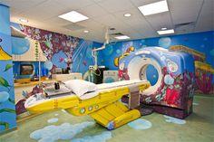 "A ""yellow submarine"" MRI machine at Children's National Medical Center!"