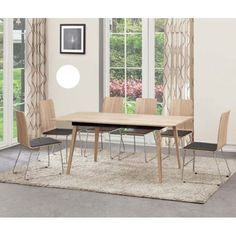 Sienna Extendable Dining Table In Oak With 4 Dining Chairs - Wooden Dining Tables And 4 Chairs, Furnitureinfashion UK