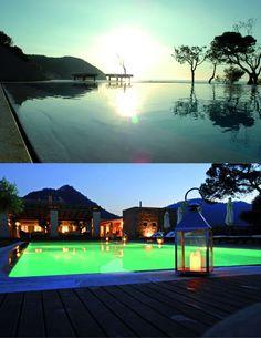 Hotel Can Simoneta | Boutique Hotel | Spain | http://lifestylehotels.net/en/can-simoneta | pool, night, day, swimming, water