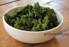 Wheat; gluten free baked kale chips recipe, healthy chips to satisfy those cravings, and a great way to get the kids eating more veggies