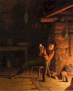 Young Abraham Lincoln reading by the fire ....  http://www.amazon.com/Adult-World-Christopher-Scott-Grimaldi/dp/0615600808