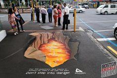 #3D #chalk #lava