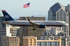 Flying Friday - US Airways landing in San Diego [Explore] Us Airways, History Channel, Landing, Places Ive Been, San Diego, Aviation, Aircraft, Friday, Explore