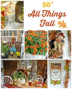 Over 50 ideas for fall decorating, crafts, recipes, and more from the All Things Creative Group