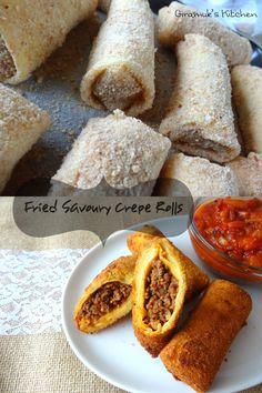 Sri Lankan - Chinese Rolls - Fried Savoury Crepe Rolls | Giramuk's Kitchen