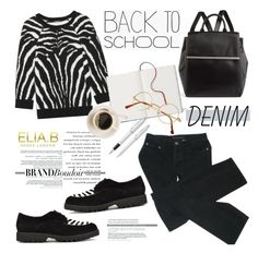 Back to school by helenevlacho on Polyvore featuring Balmain, Marc by Marc…