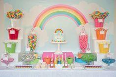 para se encantar (e colorir): festa arco-íris