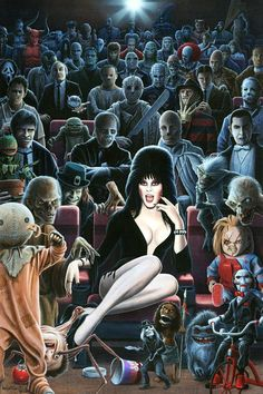 I'm not sure if I'd actually want to be in this theater with this crowd.  Actually, yes I would.