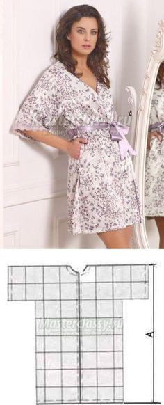 Как сшить домашний халат? | Sewing _ clothes _ patterns_Шитье_Одежда_Выкройки | Постила