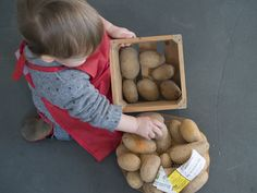 Activités entre 8 et 12 mois remplir, vider - Activités Montessori pour les tout petits bébés ( 0 - 1 an ) Jeux d'éveils pour les enfants Nido Montessori