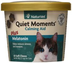 NaturVet 79903640 60 Count Quiet Moment Calmin and Melatonin Cat Soft Chew Cup * You can find more details by visiting the image link. (This is an affiliate link and I receive a commission for the sales) Keep Cats Away, Rest And Relaxation, Cat Accessories, Russian Blue, Quiet Moments, Cat Health, Natural Solutions, Reduce Stress, Your Pet