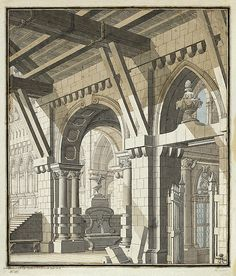 Warburg - Banco Comparativo de Imagens: Bibiena, Carlo Galli. Architecture Drawings, Architecture Old, Classical Architecture, Architecture Details, Detailed Drawings, Brickwork, Drawing Sketches, 18th Century, Barcelona Cathedral