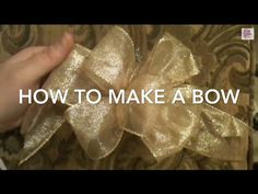 For beginners. Slow and detailed with load of hints, see other video for faster. *This video assumes the viewer know nothing about making a bow and goes very slow and explains in detail How To make a bow.* Kristen with GoodKnit Kisses shows you how to Ha. Crafts, How, Make, Craft,