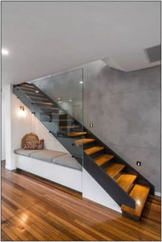 Modern Staircase Design Ideas - Stairs are so common that you don't provide a reservation. Have a look at best 10 instances of modern staircase that are as stunning as they are . Home Stairs Design, Modern House Design, Home Interior Design, Exterior Design, Modern Stairs Design, Stair Design, Contemporary Design, Railing Design, Stairs For Home