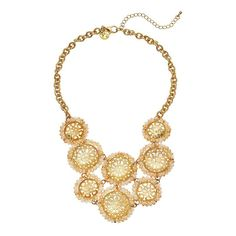 "GS by gemma simone Vintage Filigree Collection Circle Link Bib Necklace, Girl's, Size: 18"", multicolor"